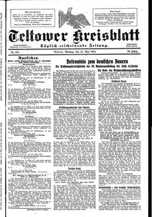 Teltower Kreisblatt vom 22.05.1933