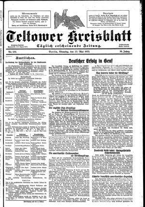 Teltower Kreisblatt vom 23.05.1933