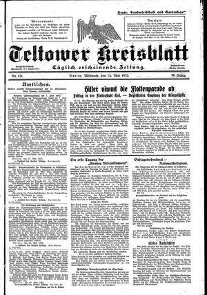 Teltower Kreisblatt vom 24.05.1933