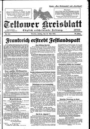 Teltower Kreisblatt vom 26.05.1933