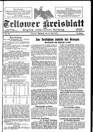 Teltower Kreisblatt vom 31.05.1933