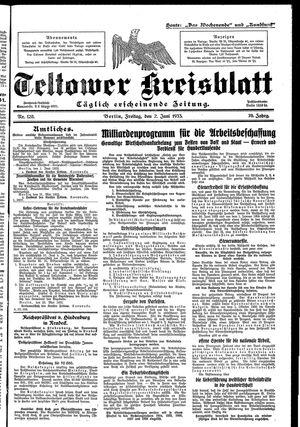 Teltower Kreisblatt vom 02.06.1933
