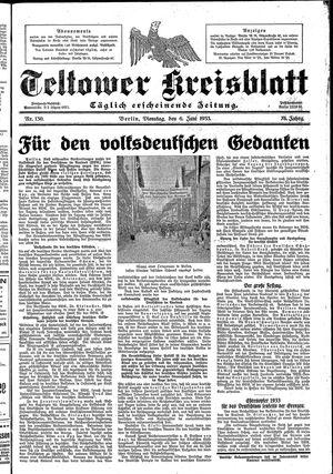 Teltower Kreisblatt vom 06.06.1933