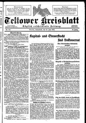 Teltower Kreisblatt on Jun 10, 1933