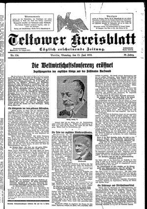 Teltower Kreisblatt vom 13.06.1933