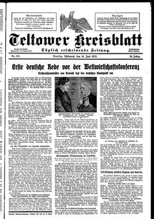 Teltower Kreisblatt vom 14.06.1933
