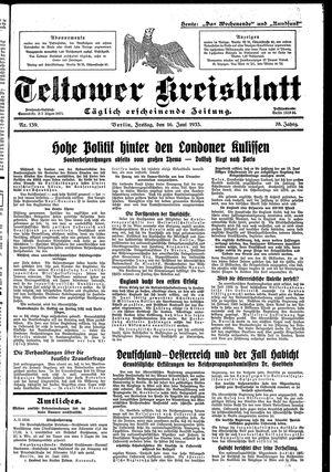Teltower Kreisblatt vom 16.06.1933