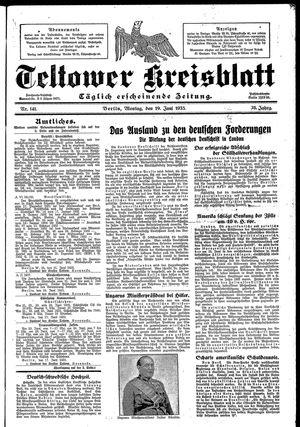 Teltower Kreisblatt vom 19.06.1933