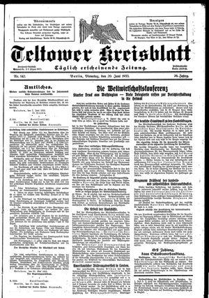 Teltower Kreisblatt vom 20.06.1933