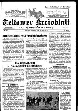 Teltower Kreisblatt vom 21.06.1933