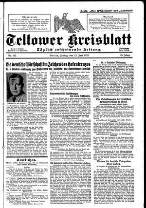 Teltower Kreisblatt vom 23.06.1933