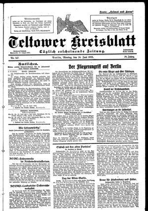Teltower Kreisblatt on Jun 26, 1933