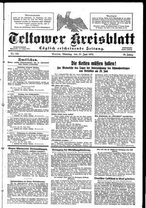 Teltower Kreisblatt vom 27.06.1933