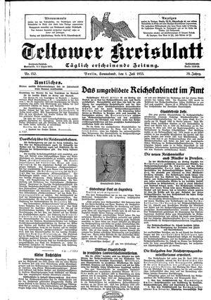 Teltower Kreisblatt vom 01.07.1933