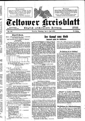 Teltower Kreisblatt vom 04.07.1933