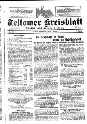 Teltower Kreisblatt vom 06.07.1933