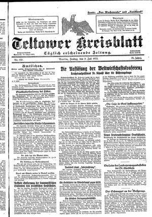 Teltower Kreisblatt vom 07.07.1933