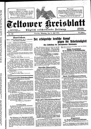 Teltower Kreisblatt vom 11.07.1933