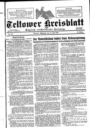 Teltower Kreisblatt vom 12.07.1933