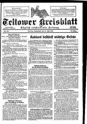 Teltower Kreisblatt vom 15.07.1933