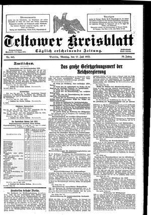 Teltower Kreisblatt vom 17.07.1933