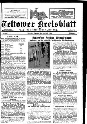 Teltower Kreisblatt vom 18.07.1933