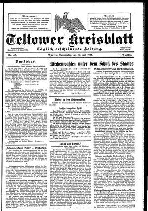 Teltower Kreisblatt vom 20.07.1933