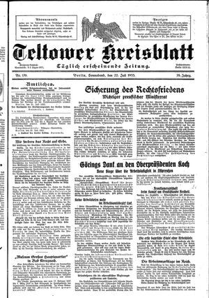 Teltower Kreisblatt vom 22.07.1933