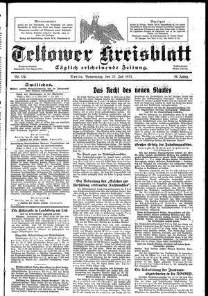 Teltower Kreisblatt vom 27.07.1933