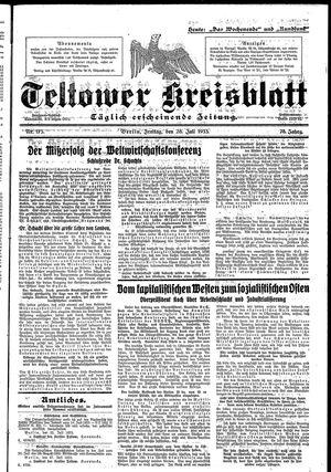 Teltower Kreisblatt vom 28.07.1933