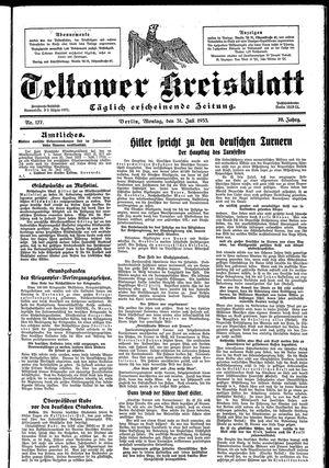Teltower Kreisblatt vom 31.07.1933