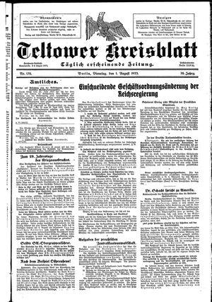 Teltower Kreisblatt vom 01.08.1933
