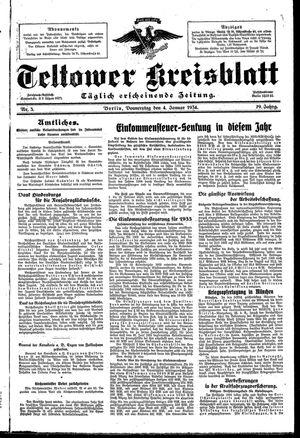 Teltower Kreisblatt vom 04.01.1934