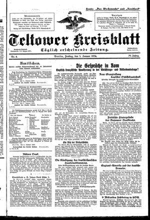 Teltower Kreisblatt vom 05.01.1934