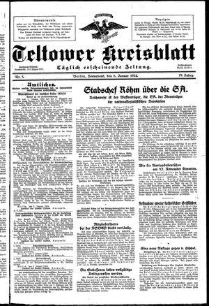 Teltower Kreisblatt vom 06.01.1934