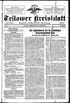 Teltower Kreisblatt vom 10.01.1934