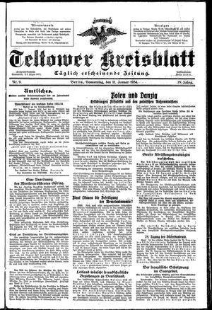 Teltower Kreisblatt vom 11.01.1934