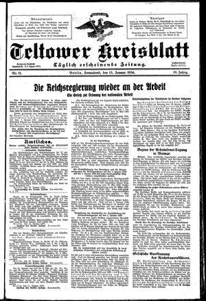 Teltower Kreisblatt vom 13.01.1934