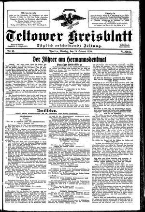 Teltower Kreisblatt vom 15.01.1934