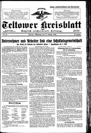 Teltower Kreisblatt vom 17.01.1934