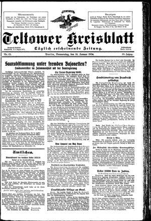 Teltower Kreisblatt on Jan 18, 1934
