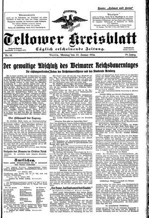 Teltower Kreisblatt vom 22.01.1934