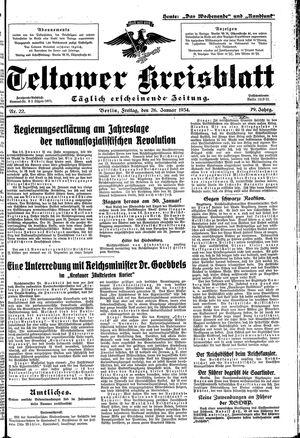 Teltower Kreisblatt vom 26.01.1934