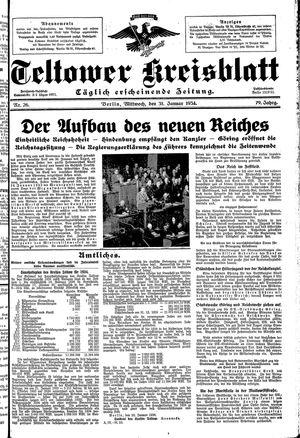 Teltower Kreisblatt vom 31.01.1934