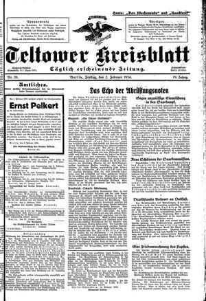 Teltower Kreisblatt vom 02.02.1934
