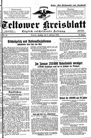 Teltower Kreisblatt vom 09.02.1934