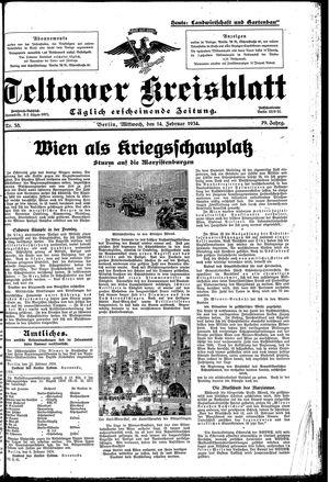 Teltower Kreisblatt vom 14.02.1934