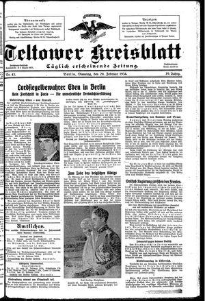 Teltower Kreisblatt vom 20.02.1934