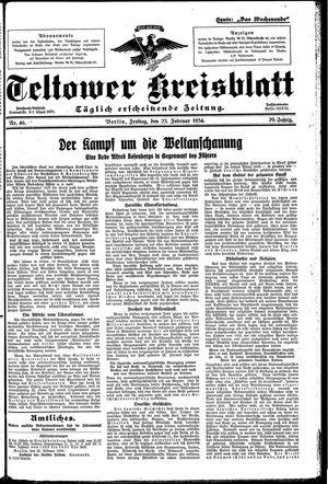 Teltower Kreisblatt vom 23.02.1934