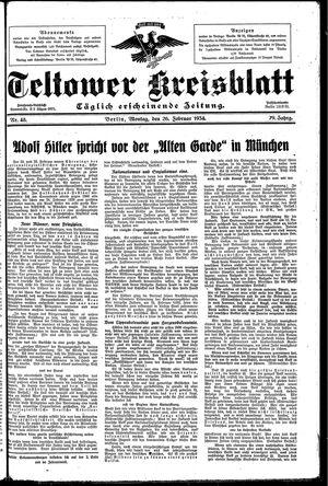 Teltower Kreisblatt vom 26.02.1934